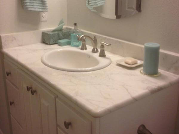 Light Marble Bathroom Sink Tile