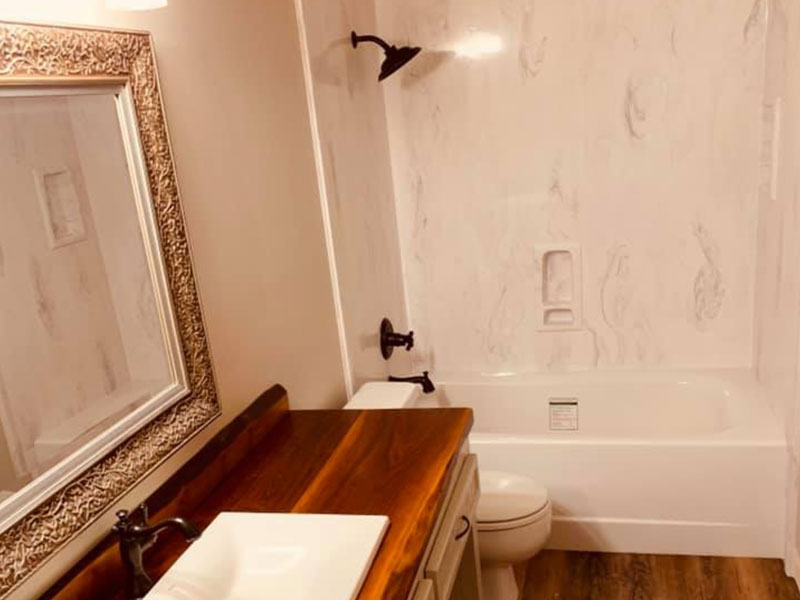 Marble Textured Shower